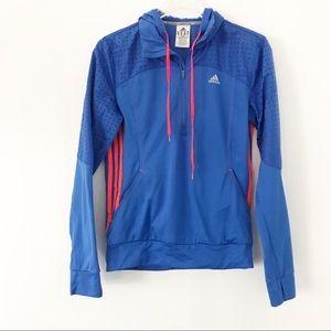 Adidas blue and orange hoodie Medium